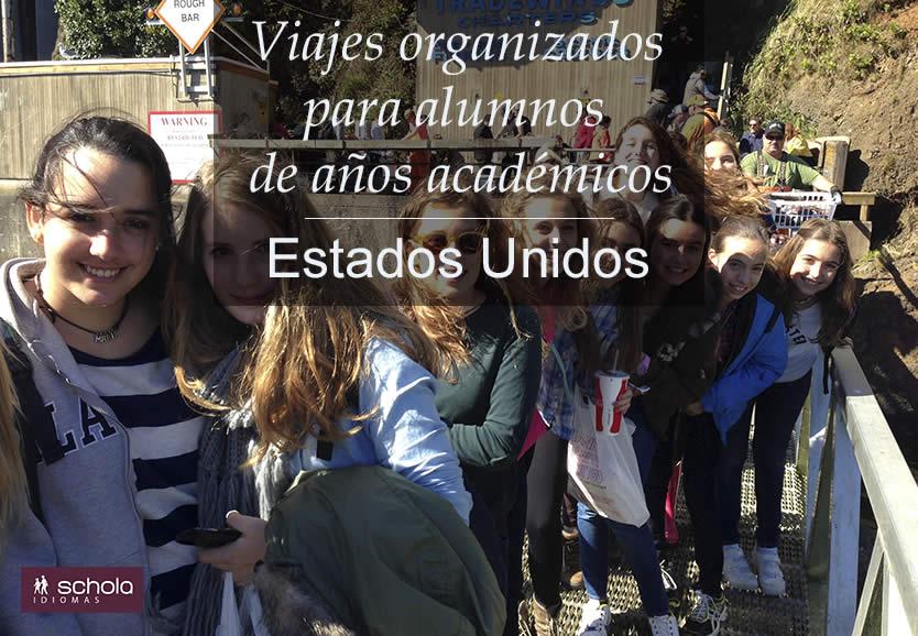 Viajes organizados para alumnos de años académicos – Estados Unidos