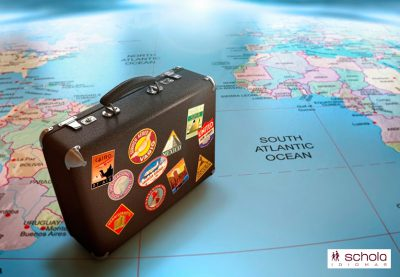 Haciendo la maleta para un viaje de estudios en el extranjero