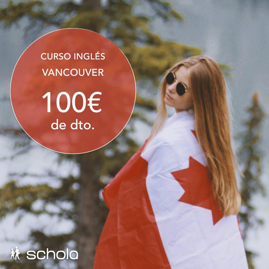 Curso de inglés en Canadá con 100€ de dto.